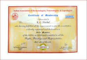Certificate of membership IADVL