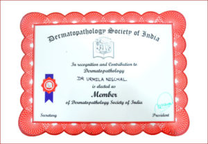 Dermatopathology recognition and contribution award for Dr.Urmila